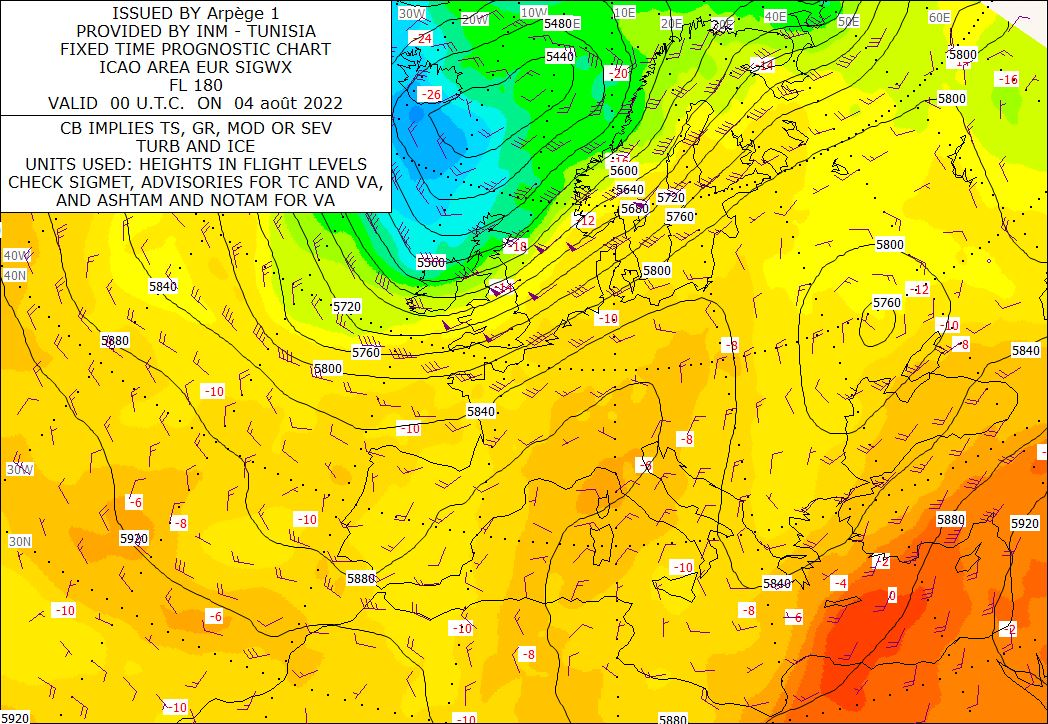 Analyse-Carte 500 hPa